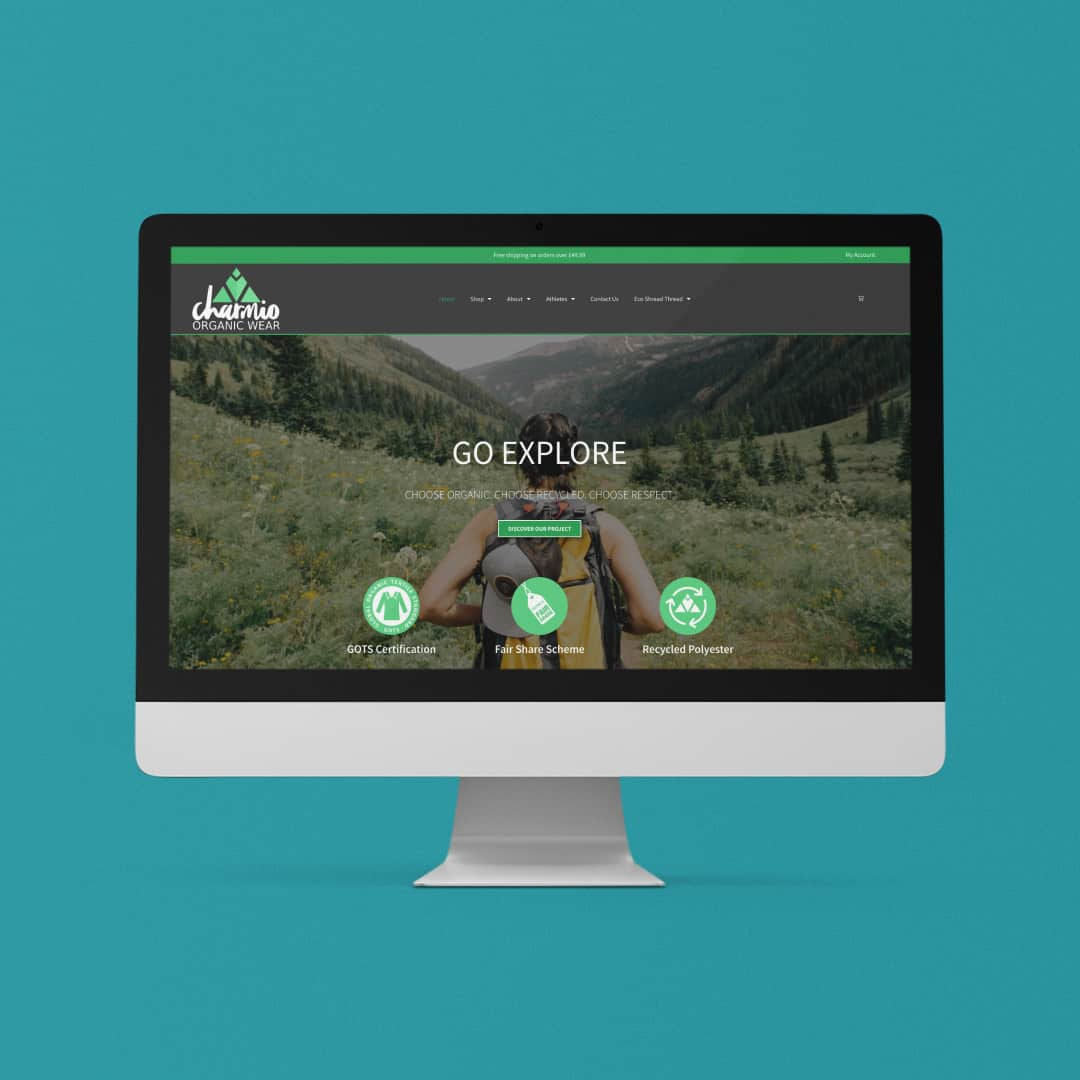 Charmio Organic Wear Home Page