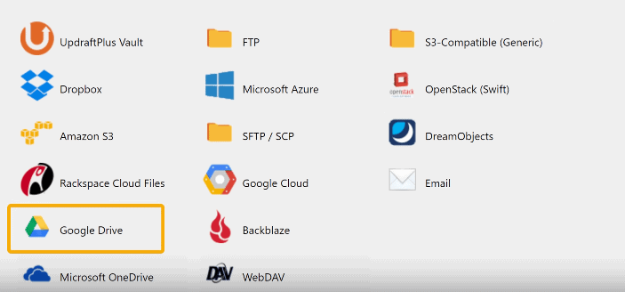 Updraft Where To Store Backup
