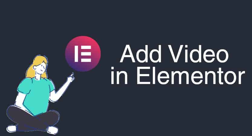 Add a video in Elementor Cover