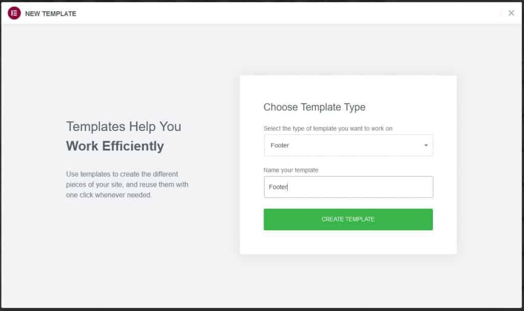 Choose Template Type