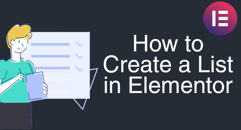 How to create a list in Elementor Cover