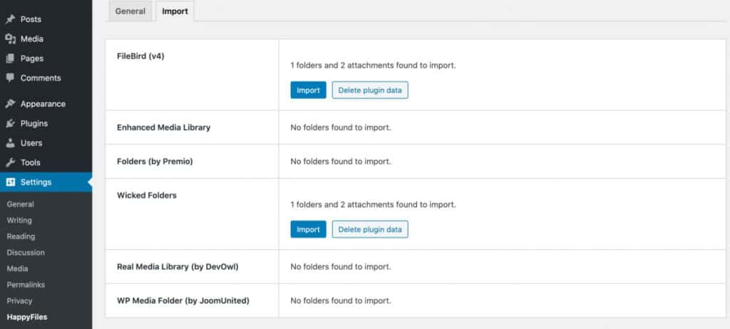 Import Existing Media Folders From Other Plugins