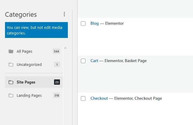 Organize All Of The Different Types Of Posts